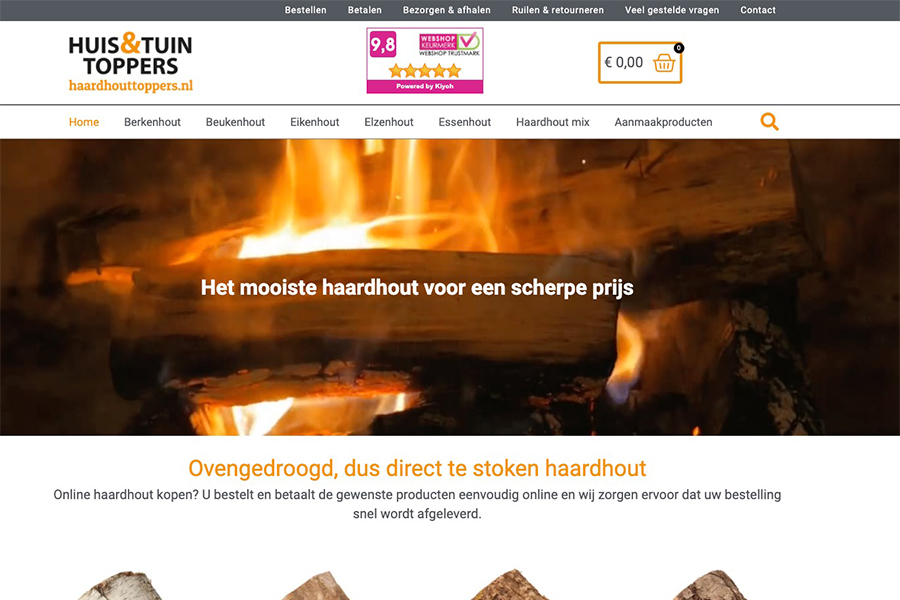 Haardhouttoppers webshop